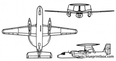 e 2c hawkeye model airplane plan