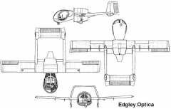 edgley optica 3v model airplane plan