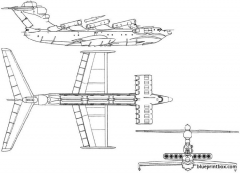 ekranoplan lun 02 model airplane plan