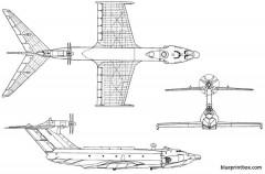 ekranoplan orlyonok 02 model airplane plan