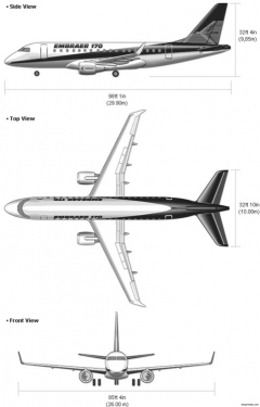 embraer170 model airplane plan