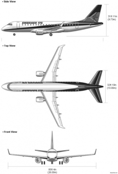 embraer175 model airplane plan