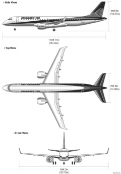 embraer190 model airplane plan