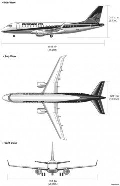 embraer 175 model airplane plan