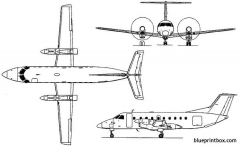 embraer emb 120 brasilia 1983 brazil model airplane plan