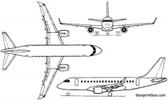 embraer erj 170 2002 brazil model airplane plan
