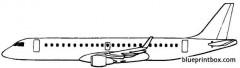 embraer erj 190 2004 brazil model airplane plan