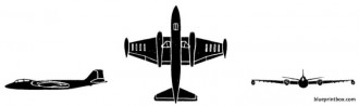 english electric canberra 2 model airplane plan