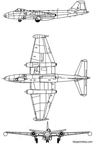 english electric canberra b1 model airplane plan