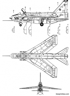 english electric f 6 lightning model airplane plan