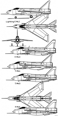 english electric lightning f6 2 model airplane plan