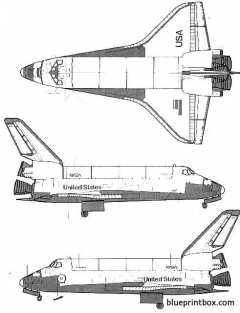 enterprise space shuttle orbiter model airplane plan