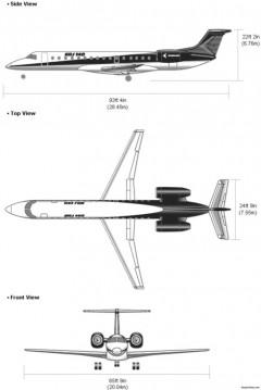 erj 140 model airplane plan