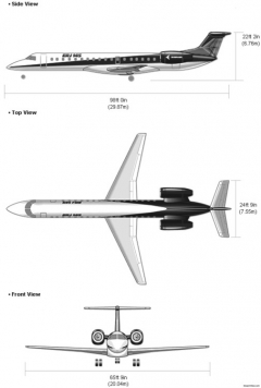 erj 145 model airplane plan
