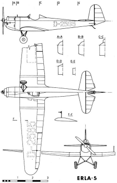 erla5 3v model airplane plan