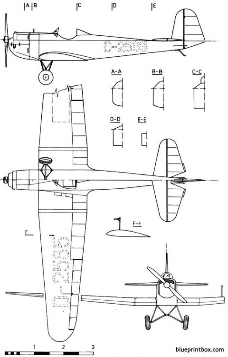 erla 5 model airplane plan