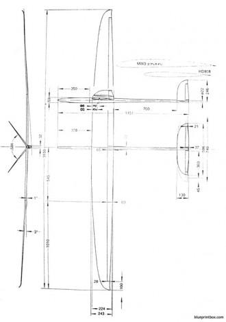 estrella f3b model airplane plan