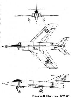etendard4m 3v model airplane plan