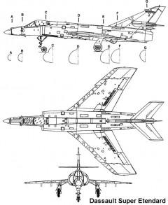 etendard 1 3v model airplane plan