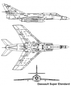 etendard 2 3v model airplane plan