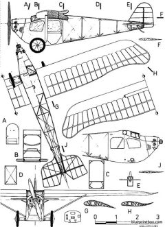 etrich e 3 limousine model airplane plan