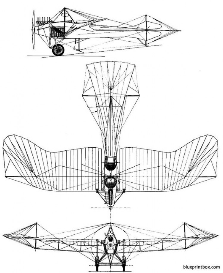 etrich taube model airplane plan