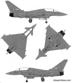 euro fighter ef 2000b typhoon model airplane plan