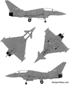 euro fighter ef 2000b typhoon 2 model airplane plan