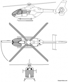 eurocopter 135 model airplane plan