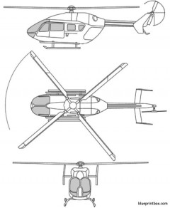 eurocopter 145 model airplane plan