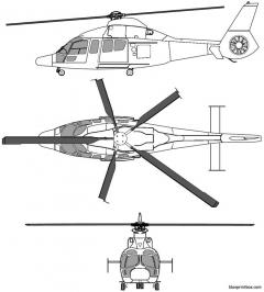 eurocopter 155 b1 model airplane plan