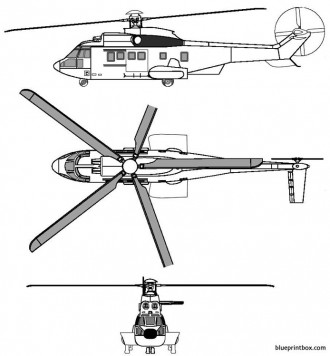 eurocopter 225 model airplane plan