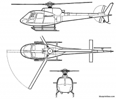 eurocopter 350 b2 model airplane plan