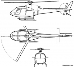 eurocopter 350 b3 model airplane plan