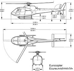 eurocopter as350 b2 model airplane plan