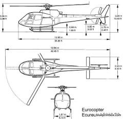 eurocopter as350 b2 model airplane plan