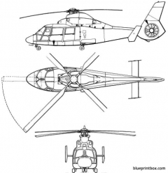eurocopter td as 365 n2 model airplane plan