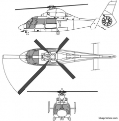 eurocopter td as 365 n3 model airplane plan