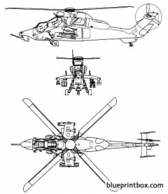 eurocopter tigre hap hcp model airplane plan