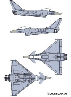 eurofighter ef 2000 model airplane plan