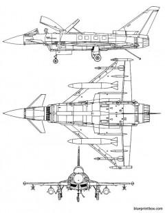 eurofighter ef 2000 typhoon model airplane plan
