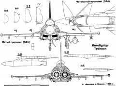 eurofighter ef 2000 typhoon 3 model airplane plan