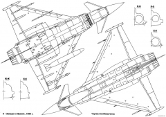 eurofighter ef 2000 typhoon 4 model airplane plan