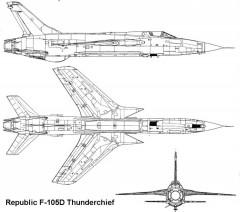 f105d 2 3v model airplane plan