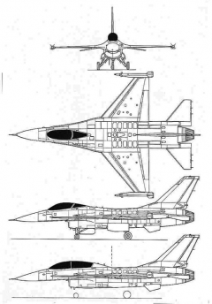 f16 3v model airplane plan
