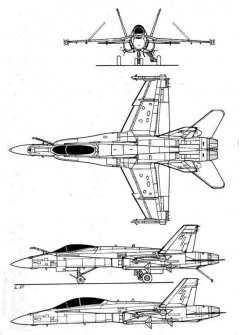 f18 3v model airplane plan