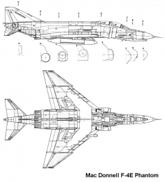 f4e 2 3v model airplane plan