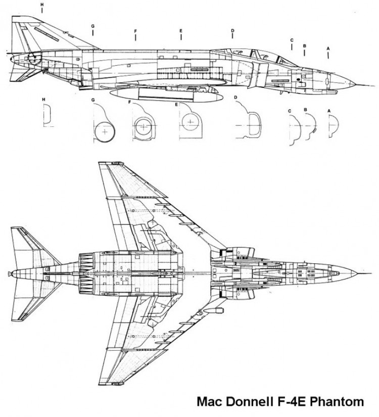 f4e 2 3v model airplane plan