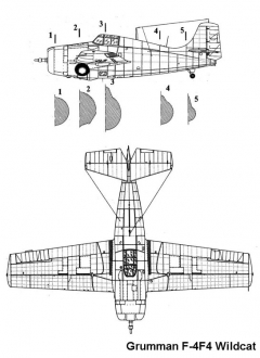 f4f 1 3v model airplane plan