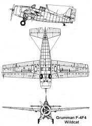 f4f 2 3v model airplane plan